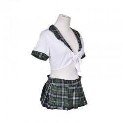 Rozverná školačka - zelená