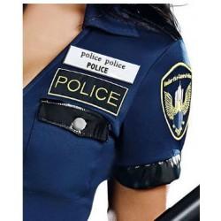 Kostým sexy policistky - detail odznaku